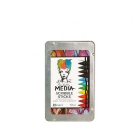 Dina Wakley Media Scribble Sticks #1 assorted - 12 pcs