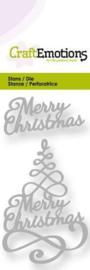 Kerstboom Merry Christmas 3D swirl - Stans