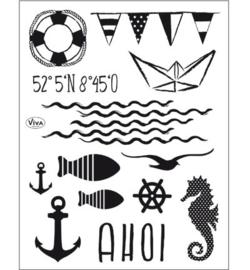 Ahoy - Clearstamp A5
