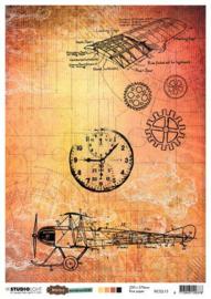 Just Lou Aviation Collection nr.15 - Rijstpapier A4