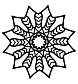 Mask Chevron Mandala