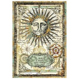 Alchemy Sun - Rijstpapier A4