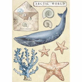 Colored Wooden Shapes Arctic World - Decoratie Hout