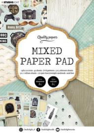 Mixed Paper Pad nr.160 - A5