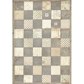 Alice Chessboard - Rijstpapier A4