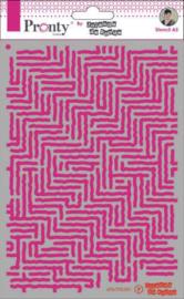 Mask Pattern Stripes - Stencil A5