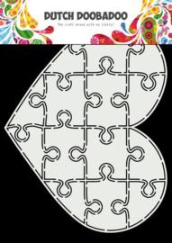 Card Art Puzzel Hart - A5