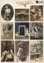 Vintage Photo Flower Children 2 - Knipvel