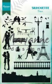 Silhouette Parijs - Clearstamp