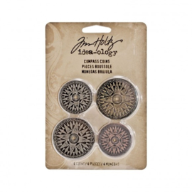 Compass Coins - Decoratie metaal