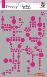 Mask Background Circles - Stencil A5