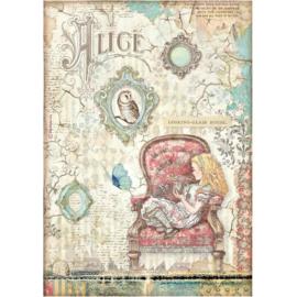 Alice Looking-glass House - Rijstpapier A4