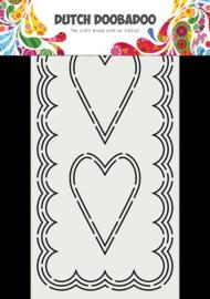 Card Art Slimline Harten - A5
