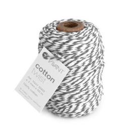 Koord Cotton Twist Grijs Wit