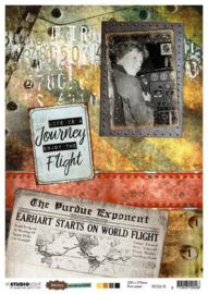 Just Lou Aviation Collection nr.18 - Rijstpapier A4