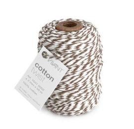 Koord Cotton Twist Bruin Wit