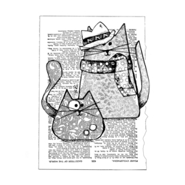 Trilby Cats - Clingstamp