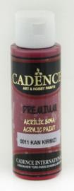 Bloedrood - Premium semi matte acrylverf