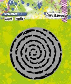 Mixed Media nr 04 Swirl - Foamstamp