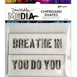 Media Chipboard Shapes Speak Out