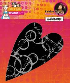 Mixed Media Cats & Girls nr 3 Heart - Foamstamp