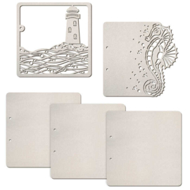 Lighthouse/Seahorse - Chipboard Pages