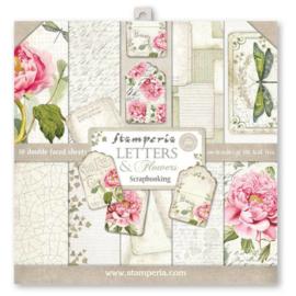 "Letters & Flowers - 12x12"""