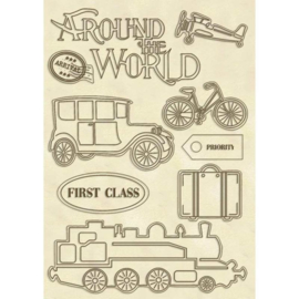 Around the World - Decoratie Hout