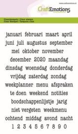Tekst Typewriter Planner (NL) - Clearstamp