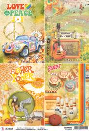 70's Cards - Rijstpapier A4