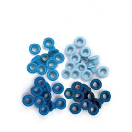 4x Blue - Eyelets 60 pcs