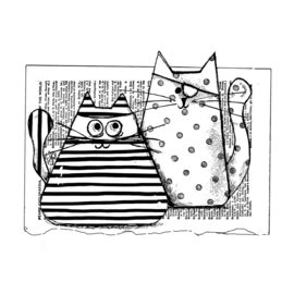 Burglar Cats - Clingstamp