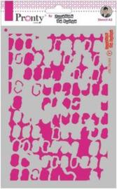 Mask Stencil Grunge Squares - Stencil A5