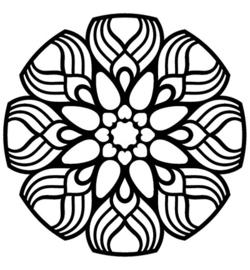 Mask Dahlia Mandala