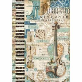 Music Violin - Rijstpapier A4