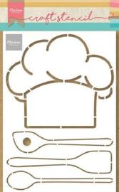 Chef's Hat & Utencils by Marleen - Mask Stencil