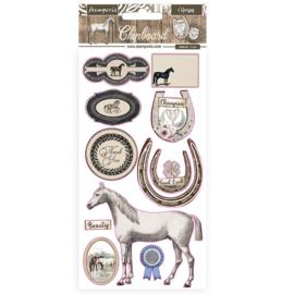 Romantic Horses - Chipboard