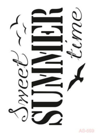 Sweet Summer Time - Stencil