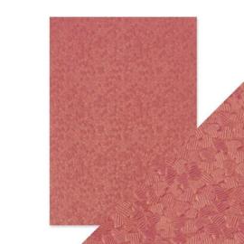 Embossed Papier - coral confetti Handmade