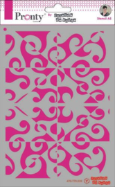 Mask Pattern Background - Stencil A5