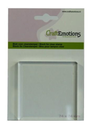 Acrylic Clear Stamp Block - 74x74mm - 8mm