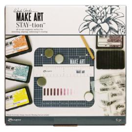 "Make Art stay-tion - blauw 7x7"""