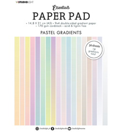 Paper Pad Double sided Gradient Pastel Essentials nr.19 - A5