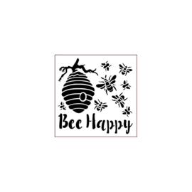 Bee Happy - Stencil