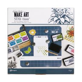 "Make Art stay-tion - blauw 12x12"""