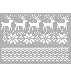 Christmas Pattern - Stencil A5