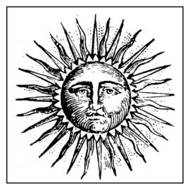 Sun - Clingstamp