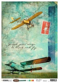 Just Lou Aviation Collection nr.13 - Rijstpapier A4