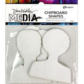 Media Chipboard Shapes Passport Photos