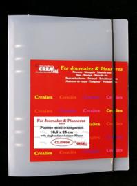 Crealies Journalzz & Pl Planner semi transparant